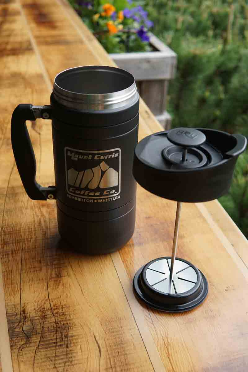 Insulated 48oz French Press in Midnight